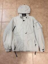 Rare Gap Artic Expedition Vanilla White Light Beige Parka Jacket Men Size Small