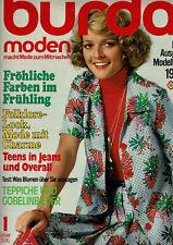 Burda Moden Nr. 1 Januar 1976 incl. Arbeitsanleitung und Schnittbögen