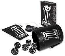 Harley Davidson ® Dark Custom jugando a las cartas, cuero copa & dice Set