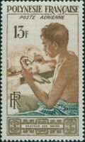 French Polynesia 1958 Sc#C24,SG13 13f Mother of Pearl Engraver MLH