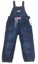 NEW Toddler Girls Osh Kosh Bgosh Overalls denim blue jean...