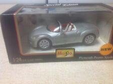 Maisto 1/24 Plymouth Pronto Spyder Silver Special Edition rare