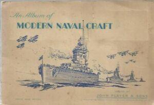 Tobacco Card Album & Cards, John Player, NAVAL CRAFT, Royal Navy Ships, 1939