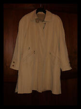 Baronia/Beau/Trench/Imperméable ¾/Beige/Toucher Doux/Mode/Chic, 40/42, Neuf