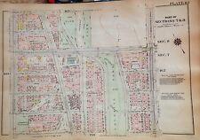 1925 HARLEM 151ST-157TH STREET MANHATTAN NYC G.W. BROMLEY PLAT ATLAS MAP 12X17