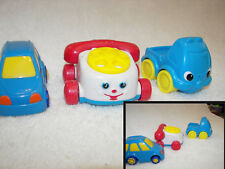 1996 McDonald's Fisher Price phone chatty  and  truck and  minivan set of 3