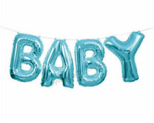 "PARTY BABY SHOWER FOIL BALLOON BANNER KIT BLUE HEIGHT 14""/35CM GENDER REVEAL BOY"
