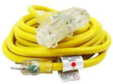 25Ft 10 /3 Gauge industrial power Electrical Extension Cords cable tri-tap UL