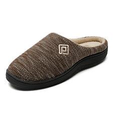 US Men's Memory Foam Slippers Indoor Outdoor Comfortable Slip On House Shoes