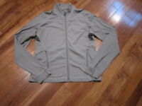 Lululemon mens lightweight jacket in heathered grey size large pockets full zip