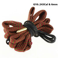 6mm .243Cal Boresnake Rifle Gun Cleaning Kit Airsoft Tactical Hunting Clean Rope