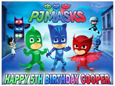 PJ Masks Edible Icing Image Personalised Birthday Party Cake Decoration Topper