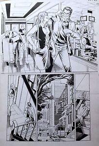 SUPERMAN & LOIS BATMAN VS SUPERMAN DR PEPPER ONLINE ORIGINAL ART JOE BENNETT
