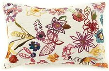 D Studio SASHA New $60 Reversible Quilted KING SHAM Pillow Case Cream Floral Mu