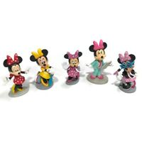 Disney Mickey Mouse & Friends Lot Of Minnie Mouse Toppers Figures Toys