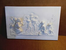 Large cherubs and angel white resin wall plaque