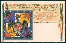 Militari V Reggimento Lancieri di Novara Dragoni Piemonte Duval cartolina XF2112