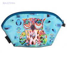 """Colourful """"Owl"""" SMALL Makeup Toiletries Bag by Allen Designs"""