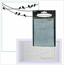 Darice embossing folders BIRDS ON A WIRE 1218-53 Cuttlebug Compatible folder