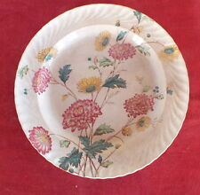 plat rond faience E.Bourgeois decor floral