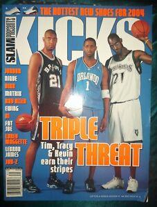 Slam Presents Kicks 6 Magazine 2003; Tim Duncan, Tracy McGrady, Kevin Garnett