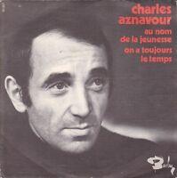 Disque 45 tours Charles AZNAVOUR Au nom de la jeunesse 1968