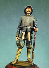 ANDREA MINIATURES S3-F07 - GERMAN INFANTRYMAN WITH ARMOUR - 54mm WHITE METAL