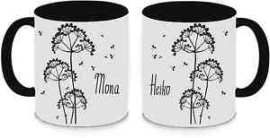 Tassen Twinset schwarz - Pusteblumen