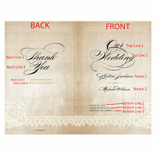 Vintage Lace Personalized Wedding Programs 24/pk