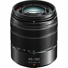 NEW Panasonic Lumix G Vario 45-150mm f/4-5.6 ASPH. MEGA O.I.S. Lens - Black
