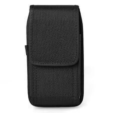 Black Nylon Vertical Holster Belt Pouch Case for Samsung galaxy S9 / S8 Plus J8