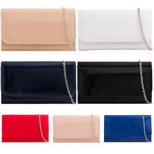 Patent Wedding Ladies Party Prom Evening Clutch Hand Bag Purse HandBag