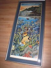 "Robert Lyn Nelson 397/400 Signed Two Worlds Huge 28""x61"" Framed Print/Free Ship!"