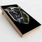 Skin Decals for Cornhole Game Board 2xpcs. / Black ops grim reaper