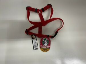 """Top Paw Adjustable Harness SMALL Girth Size 14""""-20"""" - Red - New w/Tags"""