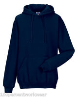 Size X-SMALL Jerzees 575M NAVY BLUE Mens Hooded Top Sweatshirt Hoody Hoodie New