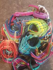 Lot of 100 Fitbit Flex 1 + Charger, Fitness Trackers for parts or repair