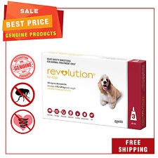 REVOLUTION Heartworm Flea treatment 3 Pipettes for dogs 10.1 to 20 Kg Red Pack