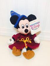 "The Disney Store Sorcerer Mickey Fantasia 11"" Mini Bean Bag Plush NWT"
