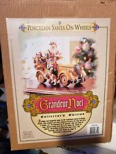 Grandeur Noel Porcelain Santa Claus on Wheels Collectors Classic Car 2003