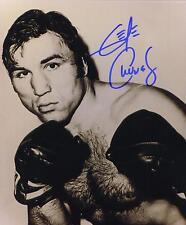 George Chuvalo signed b&w boxing photo