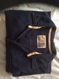 Mens M&S North Coast Navy Linen Shirt - XXL