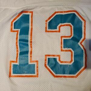Vtg Miami Dolphins #13 Dan Marino Champion Brand Size Medium White Jersey EUC