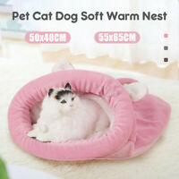 Pet Nest Sleeping Bag Mat Kennel Cave Warm Soft Pad Cat House Bed Puppy Dog