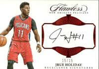 2016-17 Panini Flawless Excellence Signatures Ruby /15 Jrue Holiday #EX-JHO Auto