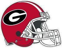 "University Of Georgia Bulldogs Helmet Vinyl Decal - You Choose Size 2""-34"""