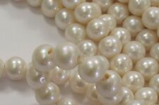 10-11mm Half Strand Large Hole Semi Round Natural White Pearl Bead 2mm Hole(#17)