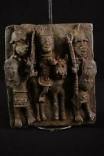 13444 Bronze: African Large Benin Plate / Plate Nigeria
