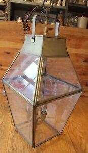 X-Large lantern Vintage Brass Drop Pendant Porch Entryway Light chandelier
