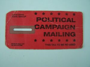 United States Postal Service USPS Political Campaign Mailing Red Tag